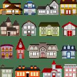 בתים בגדלים שונים
