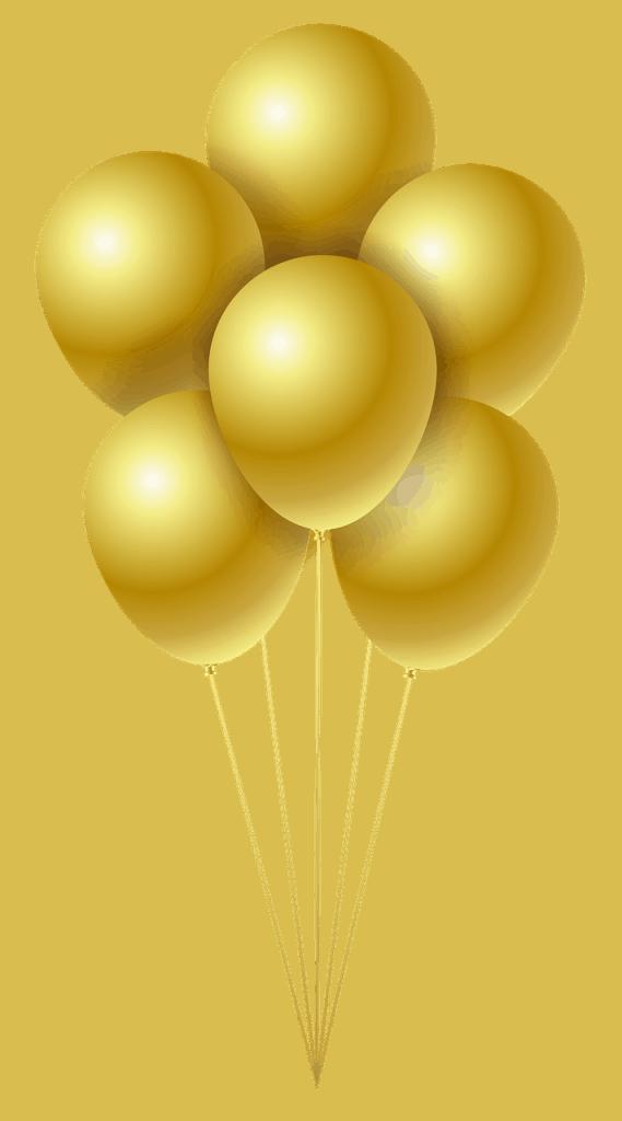 בלונים בצבע זהב